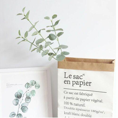 Green Artificial Eucalyptus Leaves Faux Silk Fake Plant Grass Home Party Decor