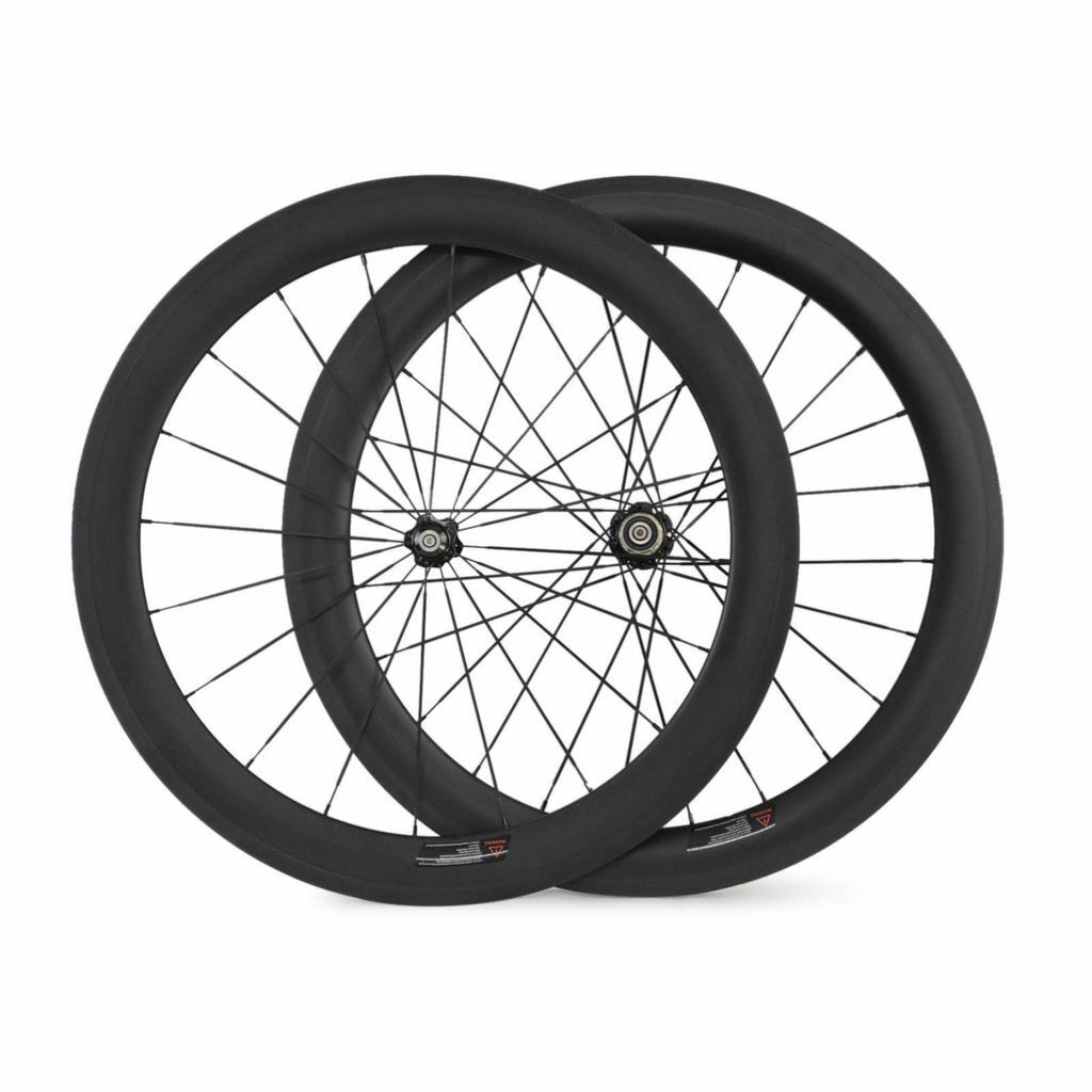 700C 23mm Width 60mm depth Clincher Carbon bicycle wheels Road Bike wheelset