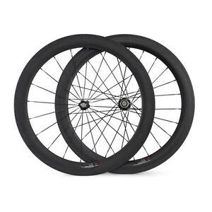 700C-60mm-Clincher-Carbon-Wheels-23mm-Width-Carbon-Fiber-Road-Bicycle-Wheelset
