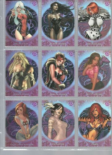 Insert Sets Marvel Dangerous Divas Mini Master Set 72 card set and 3 Chase