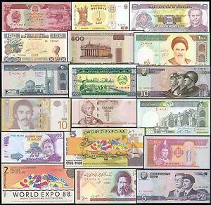 MUNDO- LOTE 100 BILLETES DE PAISES DEL MUNDO. EUROPA- ASIA- AMERICA¡¡ +REGALO. B5RiXlpl-07140826-239144929