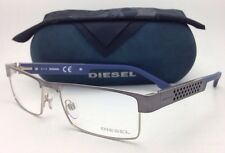 new diesel eyeglasses dl 5020 008 55 17 gunmetal silver blue frame w demo