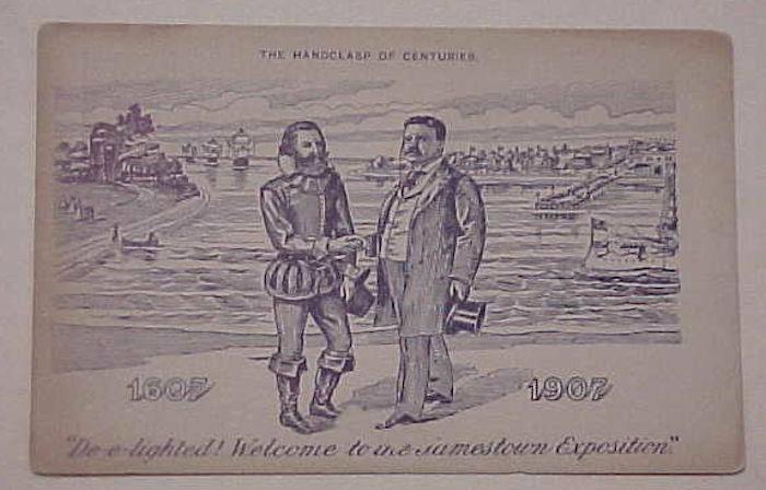 US JAMESTOWN EXPO 1907 MINT CARD