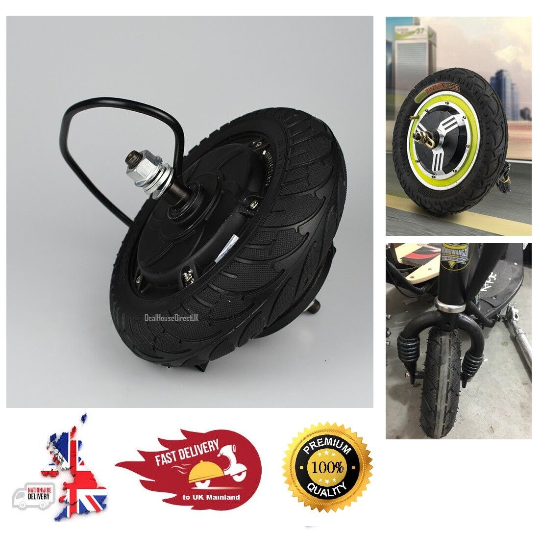 Concentrador de 8  ruedas Scooter eléctrico de motor sin Escobillas sin dientes bicicleta 24V 36V 48V DC