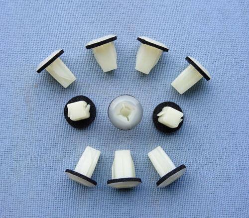 20x Verkleidung Clips Befestigungs Klips Halter universal fü Nissan 8mm weiß 361