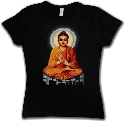 Buddhismus Indien Buddha Siddhartha Zen SIDDHATTHA GOTAMA VINTAGE GIRLIE SHIRT