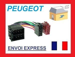 Cable-convertisseur-ADAPTATEUR-ISO-fiche-pr-Peugeot-106-206-306-307-405-406-607