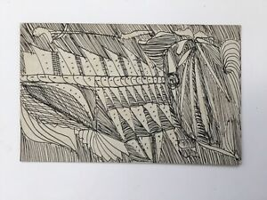 Madge-Gill-Outsider-Art-Artist-Brut-Spiritualist-original-drawing-pen-amp-Ink-25