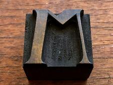 Antique Letterpress Wood Type Printing Block Letter M Unique Stylish Font