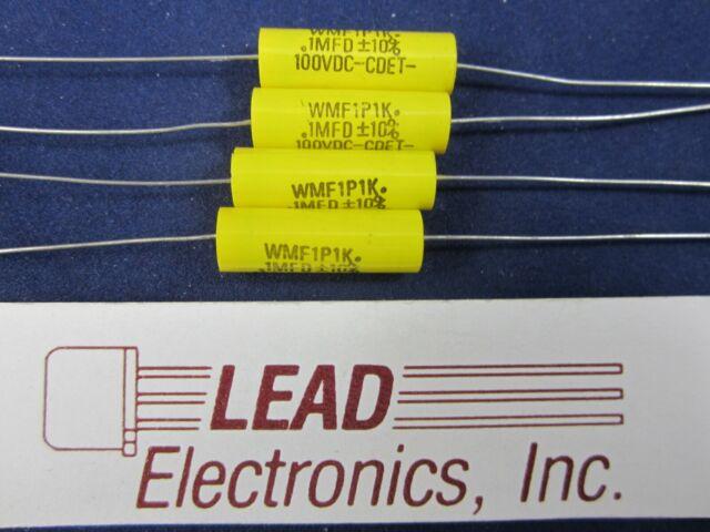CDE WPP 0.1uF 400V 5/% WPP4P1J Axial Film Capacitor 2pcs-Cornell Dubilier