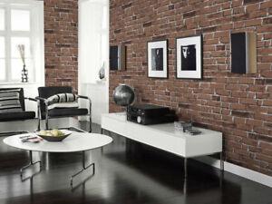 Image Is Loading Modern 3D Brick Stone Style Wallpaper Bedroom Living