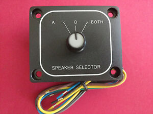Details about A/B Speaker Switch Selector Front Back Control Splitter A B  Panel Mount