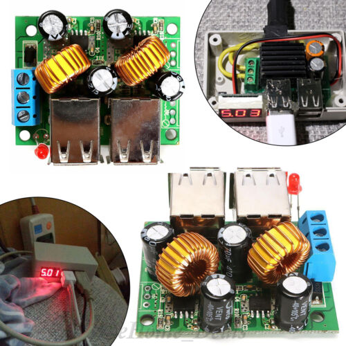 USB Power Supply 12 V to 5 V 5 A Step Down DC Module 4 port pour Chargeur Convertisseur