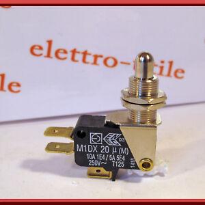 Micro interruttore pulsante metallico Micro Switch N.C. 10A faston 6,3mm - Italia - Micro interruttore pulsante metallico Micro Switch N.C. 10A faston 6,3mm - Italia