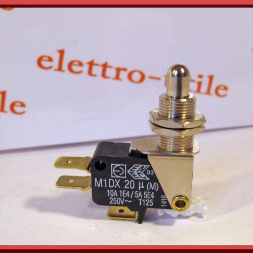 10A faston 6,3mm Micro interruttore pulsante metallico Micro Switch N.C