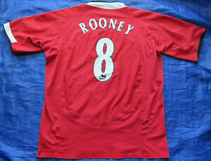 Wayne ROONEY  8 MANCHESTER UNITED home shirt jersey NIKE 2004-06 ... 3175460b1