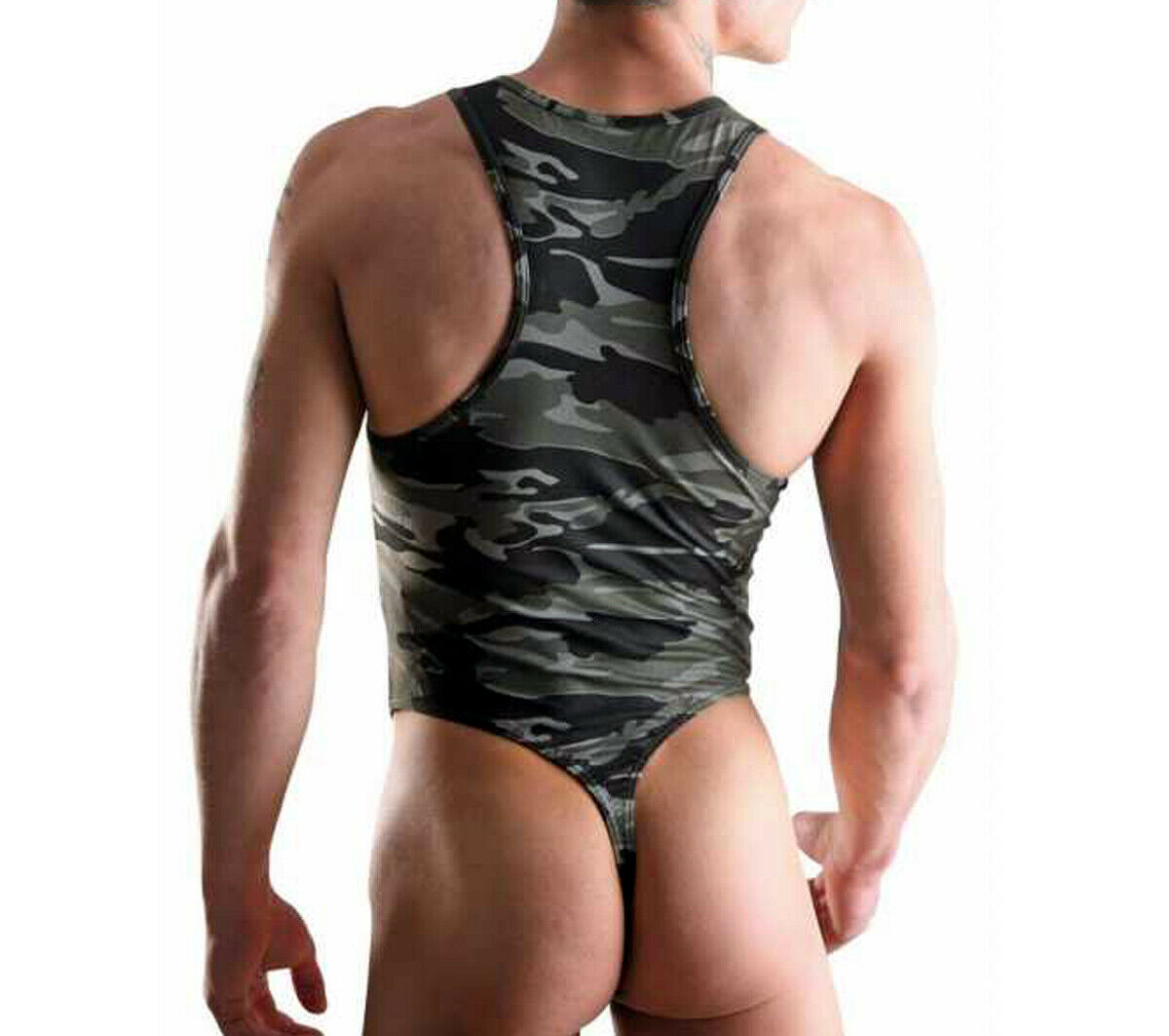 Final Unique Perfect Army Camo Super Sexy Mens Bodysuit Stringbody Body Thong us