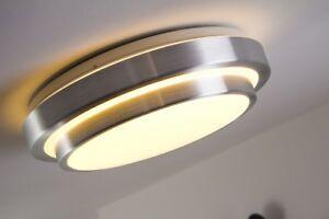led deckenleuchte design lampe deckenlampe badezimmer bad 18 watt ip44 warmwei ebay. Black Bedroom Furniture Sets. Home Design Ideas