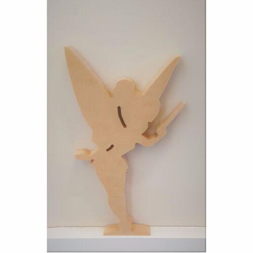 Tinkerbell symbol free standing wooden MDF UNPAINTED shelfie