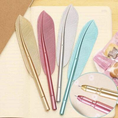 Kawaii Feather Gel Pen Neuheit Cute Pens Geschenk Office Writing School Neu C1V9