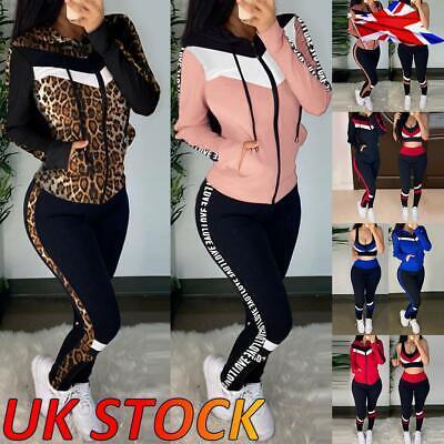 Cargo Pants Suit Lounge Wear UK Womens Long Sleeve Tracksuit Sets Jacket Top