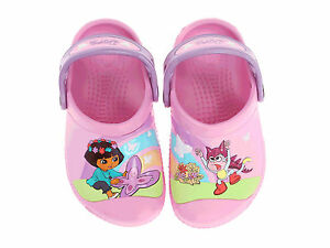 efe399f8d Image is loading Crocs-Dora-Butterfly-Clog-Infant-Kids-Carnation-Iris-