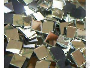 "MOSAIC TILES 500 HANDCUT GLASS SILVER MIRRORS 1"" x 1"""