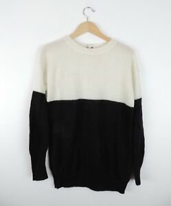 Women-039-s-New-Gap-Black-amp-White-2-Tone-Sweater-Size-XS-NWT