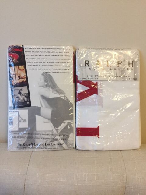 "NEW ~ Rare Vintage Ralph Lauren ""RALPH""  Avant Garde Pillowcases"