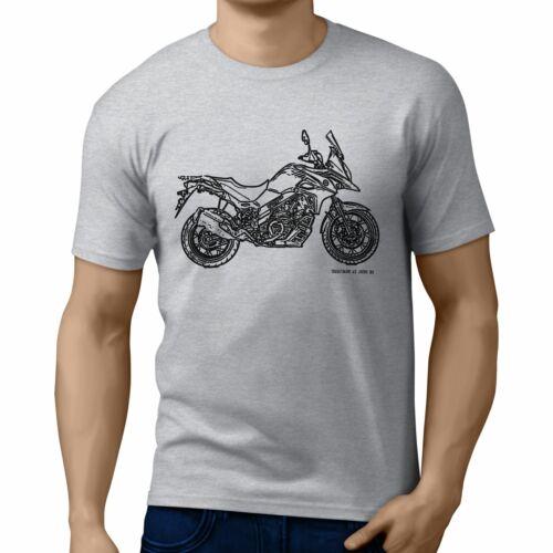 JL Illustration For A Suzuki V Strom 650XT 2017 Motorbike Fan T-shirt