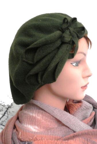 Femmes Béret application Nuancier Français Bonnet Laine Automne Hiver