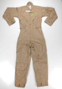 28d94a679b0 US Military Flight Suit Flyers Coveralls FR Class 2 CWU-27 P Tan 32 ...