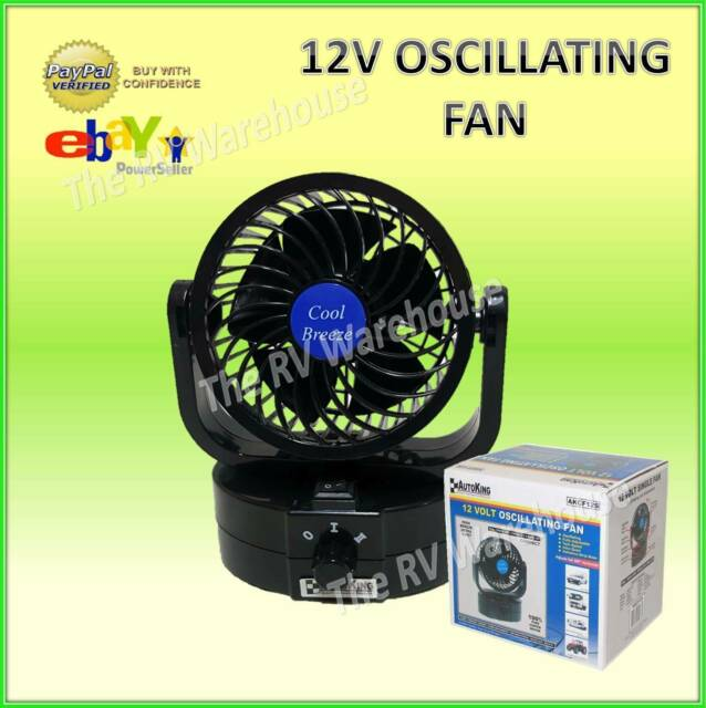 Autoking 12V Car Fan Oscillating Portable New  Caravan Camping RV Boat Parts