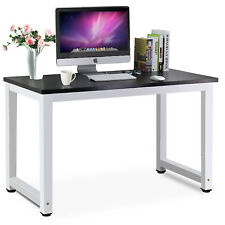 Glass Computer Desk Tempered Steel Frame PC Laptop Table For Home - Table for office use