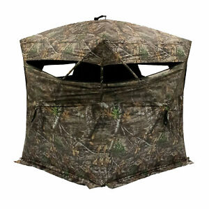 Rhino Blinds R150-RTE RealTree Edge 3 Person Game Hunting Ground Blind, RealTree