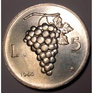REPUBBLICA-ITALIANA-5-Lire-1946-al-2001-FDC-UNC
