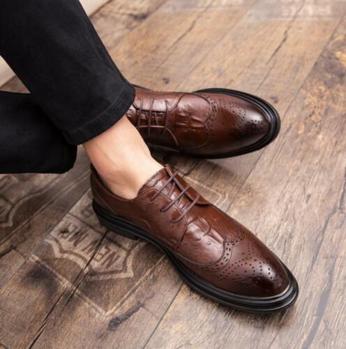 Up de Astuce Wing Mens Chic cuir Nouveau dentelle Dress Brogue chaussures formelle Oxfords en mariage zqwZ0q