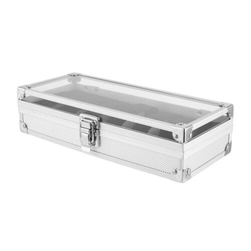 Aluminium Coffret Présentoir Boîte à Montre Bijoux Rangement pour 6//12 Montres