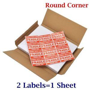 Premium 8.5x5.5 Round Corner Shipping Postage Label Half Sheet Self Adhesive UPS