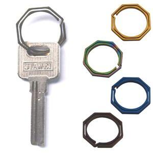 Keyring-Octagon-Titanium-TC4-Ti-Hook-Outdoor-Clip-Kit-Buckle-Keychain-Edc-Gear