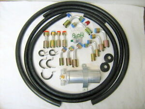 UNIVERSAL-A-C-HOSE-KIT-FOR-RAT-ROD-MUSCLE-CAR-GENERAL-USE-W-ALUMINUM-DRIER