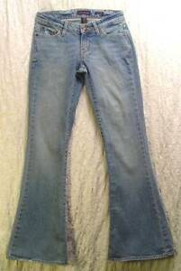 Worn-Faded-Distressed-ULTRA-Low-AEROPOSTALE-Super-Flare-JEANS-0-S