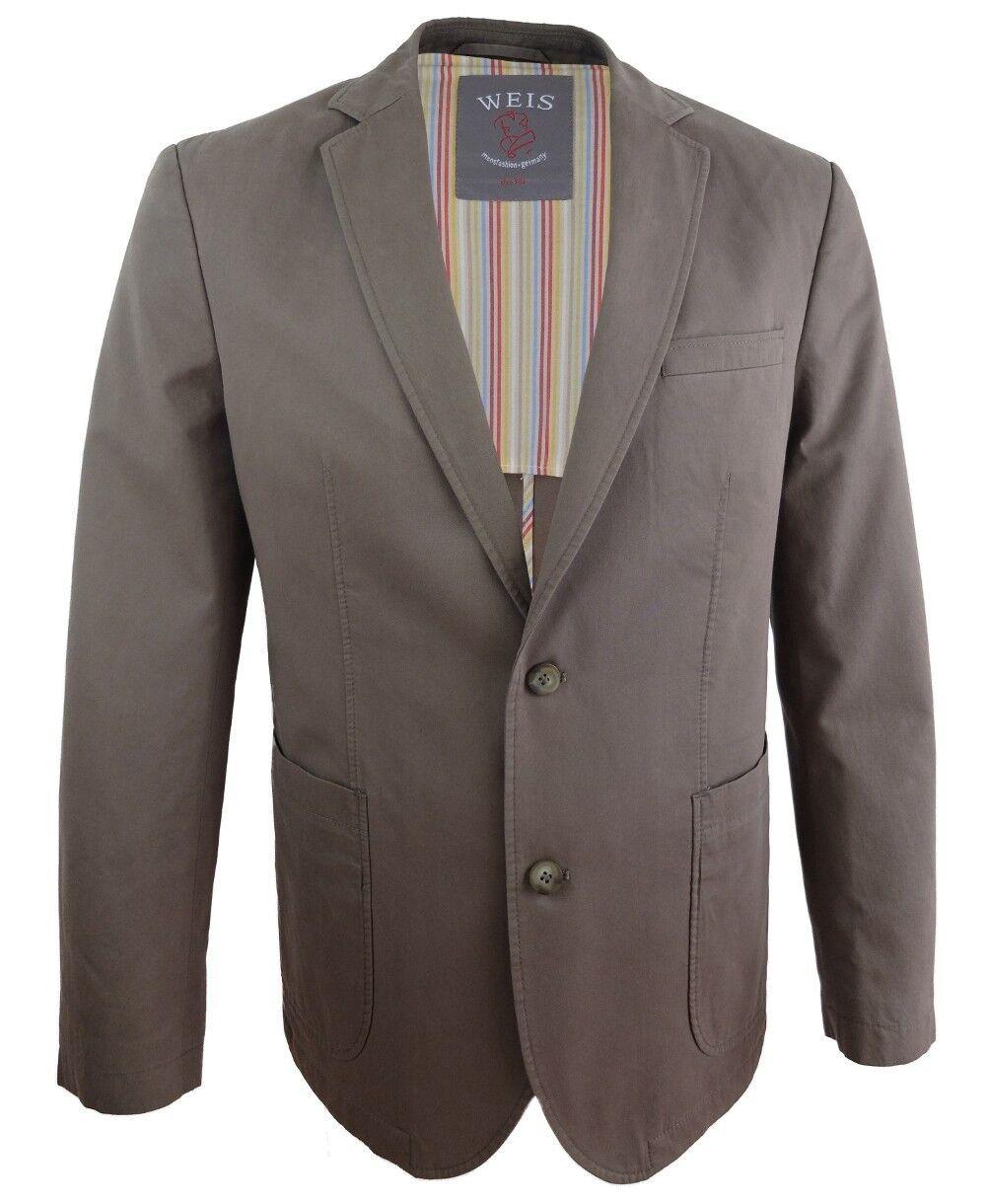 Gebr. Weis Sakko Modern Fashion in schlamm Gr. 50 bis 70 und 28 bis 31 Baumwolle