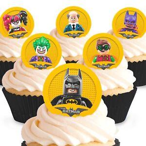 Details Zu Cakeshop 12 X Essbare Lego Batman Movie Kuchen Dekoration