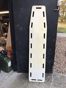 White Flat Spinal / Back Board Stretcher