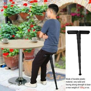 Compact Portable Mini Folding Chair Stand Up Leaning Seat