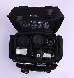 Canon-Gadget-Hombro-Camara-llevar-Funda-Bolsa-2400-9361-Negro-reflex-digital-portatil-de-viaje