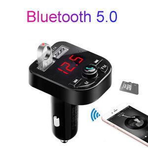 Universel-Voiture-Mains-Libres-MP3-Radio-FM-Transmetteur-Bluetooth-USB-Chargeurs