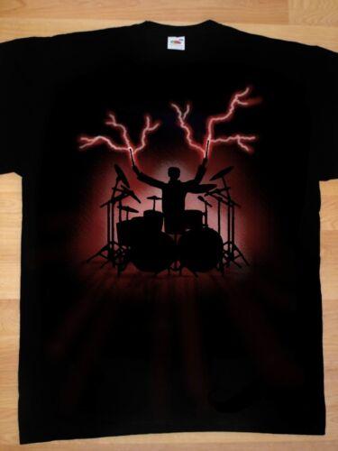 Tambour Percussion l'aérographe batteur T-shirt toutes tailles airbrush