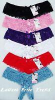 1 pcs or Lot of 6 pcs,Open Crotch Lace Thong Panties,85% Nylon S,M,L,XL NEW #111
